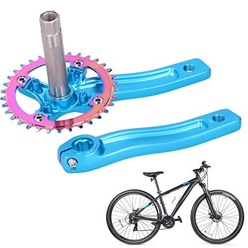 Cocosity Bicicleta Izquierda Derecha, manivela, Interruptor, Control, manivela, manivela, Eje Fuerte, aleación de Aluminio para Bicicletas eléctricas de Scooter(Blue)