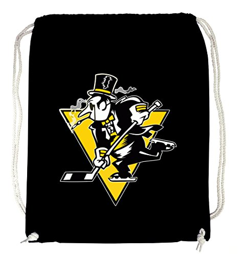 Certified Freak Hockey Pinguin Gymsack Black