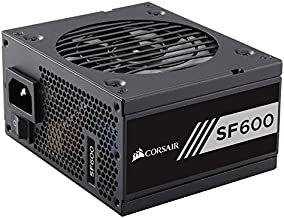 Corsair SF Series, SF600, 600 Watt, Fully Modular Power Supply, 80+ Gold Certified