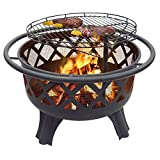 "Catalina Creations 29.5"" Crossfire Fire Pit with Quick Removable Cooking Grill"
