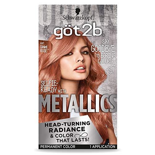 Got2b Metallic Permanent Hair Color, M97 Gilded Rose, 1 Count