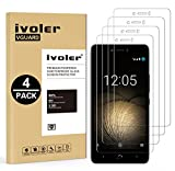 ivoler [4 Pack] Compatible with BQ Aquaris U Plus/BQ
