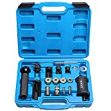 Fuel Injector Puller Removal Set Injector Seal Installer Service Tool Kit Compatible with Audi VW 1.4 1.6 1.8 2.0 2.7 3.0 3.2 3.6 V6 4.2 V8 FSI TSI Petrol