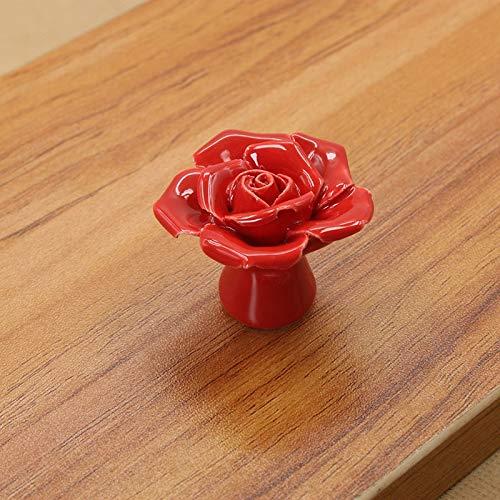 Jjek Lade Knoppen 8 STKS Keramische Vintage Bloemen Rose Deur Knoppen Handvat Ladekast Ladedeurknopen met Schroef
