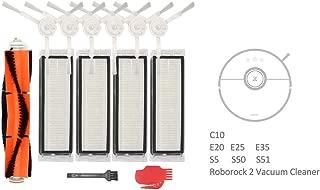 Mi Vacuum Filter Kit, for Xiaomi Roborock E25 S5 E20 E25 C10 S50, Mijia Roborock 2 Vacuum Cleaner, Contain Main Brush,Side Brush,HEPA Filter and Cleaning Tools (13 pcs)