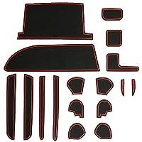 80系 ノア ヴォクシー 専用設計 ゴム ラバー ポケットマット レッド 17点セット 傷 異音防止