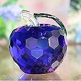 HUANSUN Decoraciones para el hogar 5cm Pisapapeles de Cristal 6 Colores Artesanía en Vidrio Decoraci...
