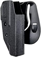Black Scorpion Outdoor Gear OWB Kydex Paddle Holster fits Walther PPQ Q5 Match Polymer Frame | Outside The Waistband Concealed Carry Holster (Black)