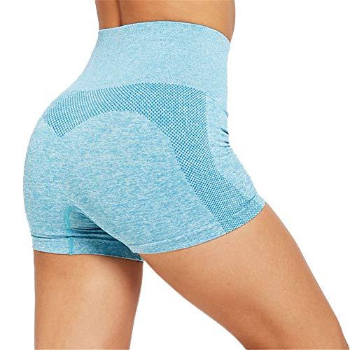 SotRong Pantalones Cortos Deportivos sin Costuras para Mujer Pantalones Cortos de Yoga Cómodos Pantalones Cortos para Correr Entrenamiento Ejercicio Fitness Pantalones Cortos de Gimnasio Verde S
