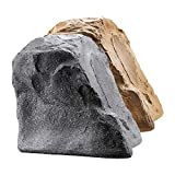 OSD Audio 8' High Fidelity Outdoor Rock Speaker Durable Weather-Resistant Design, Single - Granite Grey RS850