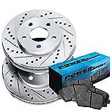 Workhorse FasTrack FT1261 Performance Brake Rotors - Fit 2009-2010 Mercury Mariner Front PSport Drill Slot Brake Rotors Kit+Ceramic Pads