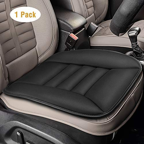 Tsumbay Car Seat Cushion Pad for Car Driver Seat Office Chair Home Use Pain Relief Memory Foam Seat Cushion Comfort Seat Protector with Non Slip Bottom Seat Baby Car Seat Cushion Black