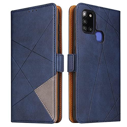 Lelogo Handyhülle für Samsung A21s Hülle, Galaxy A21s Lederhülle Handytasche, Klapphülle Tasche Leder Schutzhülle für Samsung Galalxy A21s (Blau)