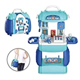 MOOVER 2 in 1 Doctor Kit Toy for Kids, Doctor Medical Backpack Pretend Play Set, Gift for Boys Girls 3-8 Years Old Kids
