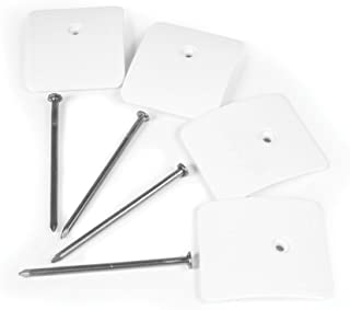 Camco Low-Profile RV Awning Mat Anchors with Hold-Down Nails - Secures Your Outdoor Mat Flat on The Ground - 4 Pack (45631)
