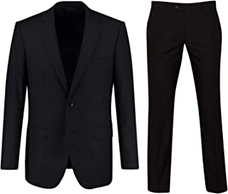 Keskin Collection Men's Suit Black Matt Model Classic