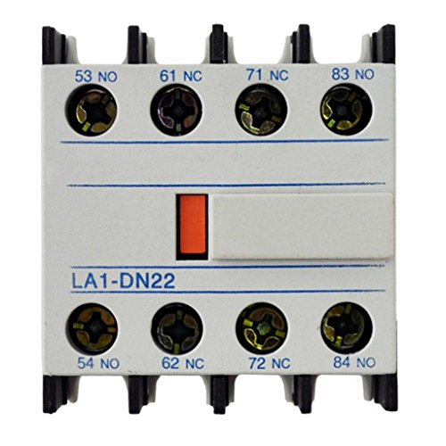 Direct Replacement for LA1DN 22 Aux Contact (LA1DN22) Replacement for use with Telemecanique LC1D09-LC1D150, LP1D09-LP1D150 2 Year Warranty