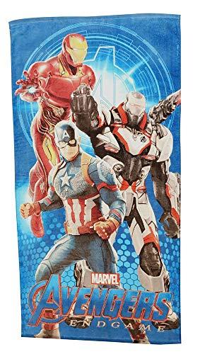 Marvel Avangers Endgame 3 héroes Ironman, Capitán América y War - Toalla de baño para niños, 100% algodón con certificado Öko Tex Standard 100