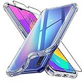 ebestStar - Funda Compatible con Xiaomi Mi 9 Lite Carcasa Silicona, ángulos Reforzados, Ultra Claro Case Cover, Transparente + Cristal Templado Protector Pantalla [Mi 9 Lite: 156.8x74.5x8.7mm, 6.39']