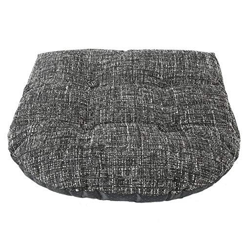 Tiffasha Cojín - Cojín de Asiento Suave de poliéster Negro Muebles de jardín para Patio Cojín para Silla Suministros para el hogar
