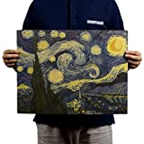 shuxuanltd Posters Posters Gaming Poster Vintage Poster Peliculas Van Gogh-Starry Sky/Nostálgico Retro Pintura Al Óleo Papel Kraft Cartel Pintura Decorativa Núcleo 01