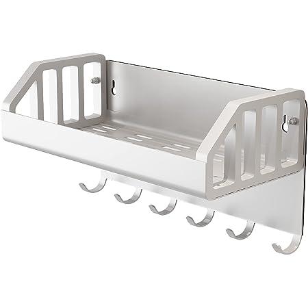 Cozy Home2 浴室用ラック マグネット バスルームラック お風呂 掃除収納 壁掛け 小物ホルダー 玄関磁石キーフック 約W22×D11×H12cm 耐荷重4.5Kg (シルバー)