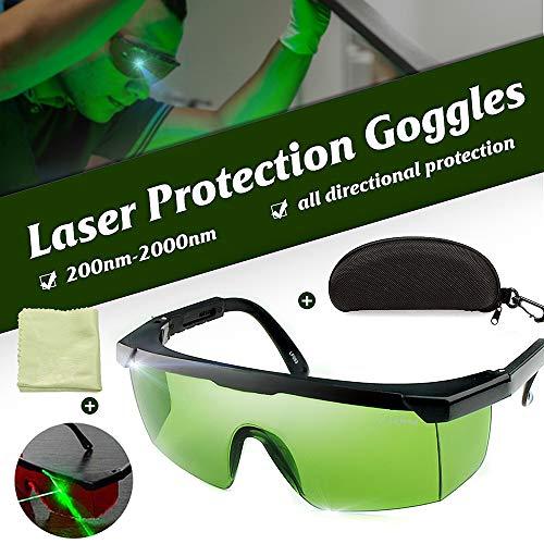 Kecheer Laserbrille, Laserschutzbrille 200nm-2000nm Laserschutzbrille OD4 + Stylische Schutzbrille