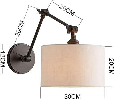 Amazon.com: Lámpara de pared de brazo largo de 2 secciones ...