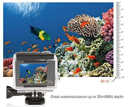 CCBETTER? CS810W WiFi 12mp 1080p Sports Action Camera High Definition 140 Degree Waterproof Diving Video DVR (WiFi Yellow)