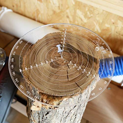 Buscador de centro redondo, herramienta de búsqueda de centro de acrílico de 200 mm con buena transmisión de luz y alta definición, brújula de carpintería para torno y madera