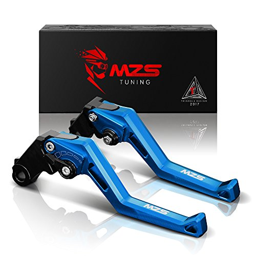 MZS Bremshebel, kurz, kompatibel mit MT-07/FZ-07/FZ-09/MT-09/SR(nicht FJ-09) 2014-19 | Tracer 700 2016-17 | FZ1 Fazer 2006-13 | FZ6 Fazer 2004-10 FZ6R. /XJ6 Diversion 2009-19 | FZ8 11-19 blau