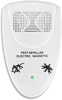 Flexzion Ultrasonic Pest Repeller Electronic Anti Mosquito Rat Mice Bug Flea Fly Cricket Ant Insects Rodents Control Treatment Repellent Indoor Home Use with LED Indicator Wall Plug