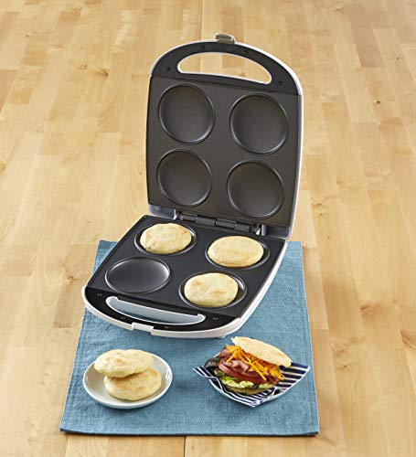 IMUSA USA 4 Slot Electric Arepa Maker with Nonstick Surface (1,200-Watts)