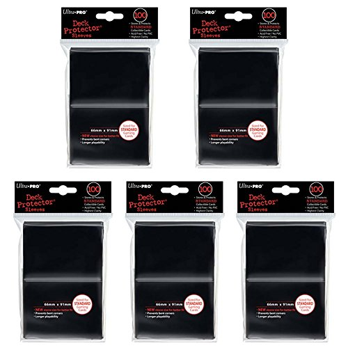 Ultra Pro Deck Protector Sleeves for Standard Size Cards   Black   500-Count