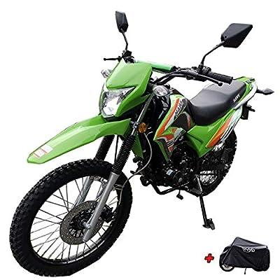X-Pro 2020 Version Hawk 250 Dirt Bike Motorcycle Bike Dirt Bike Enduro Street Bike Motorcycle Bike with Motorcycle Cover(Green) from X-Pro