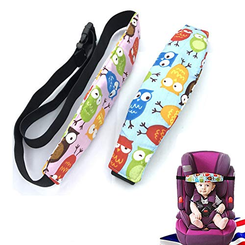 Kopfstütze Kindersitz Kopf Halter Autositz Befestigung Gurtschutz Kinder Auto Kopfhalterung Hilfe Schlaf Baby Kopf Halten Kopfstützhalter, 2 Stk