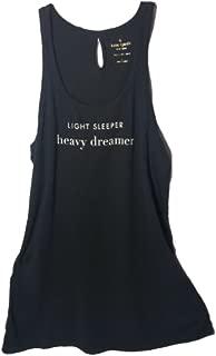 Kate Spade Sleeveless Night Shirt, Large, Black
