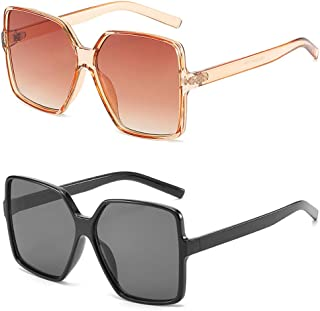 Oversized Square Sunglasses for Women Big Large Wide...
