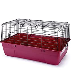 top rated Penn-Plax SAM Small Animal Cage, Black Wire Housing and Burgundy Plastic Base – Ideal… 2021