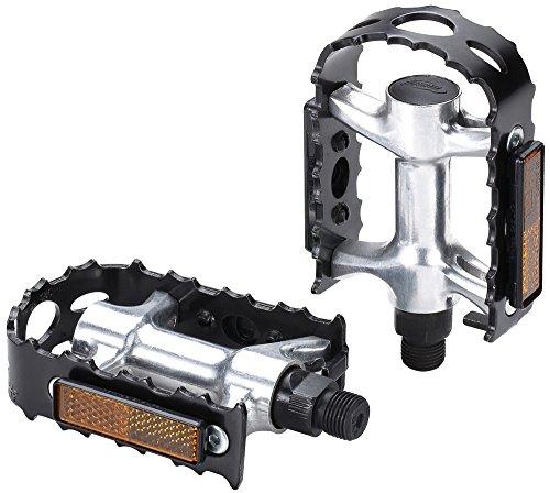 BBB CyclingBigFeet Fahrrad Pedale|Aluminium-Pedalkörper und C3-Käfig|Beidseitige Reflektoren|Schwartz| Für Pedalkäfige und BPD-30 Bike &Tight