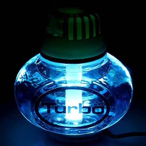 Poppy Turbo Lufterfrischer Ocean LED Beleuchtung weiß 12V 24V für LKW KFZ Auto Wohnwagen Inhalt 150 ml