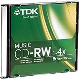 TDK CDRW80TWN 80-Minute Music CD-Rewritable (Single, Jewel)