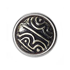 Noosa petite Chunk DZI 4 EYED silver metal