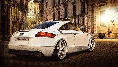 Kunst Druck Bild Audi TT 3.2 Sechszylinder romantisch Leinwand Poster Tapete Mousepad Aufkleber...