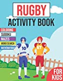 Rugby Activity Book For Kids: Ages 2-6 | Workbook with +50 soccer activities including Sudoku, mazes, word searches, coloring pages and more