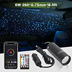 【Amazing Car Decor】Do you want your car shining like the rolls-royce? Make your car different with this starlight headliner now! (Cigarette lighter adapter included) 【Sound-Activated & Colorful】Built-in RGB LED, select any color by magical color whee...
