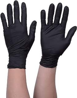 TRUSCO(トラスコ) 使い捨てニトリル手袋TGスタンダード 0.08粉無黒M 100枚 TGNN08BKM