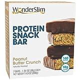 WonderSlim High Protein Snack Bar/Diet Bars - Peanut Butter Crunch (7ct) - Trans Fat Free, Aspartame Free, Kosher, Cholesterol Free