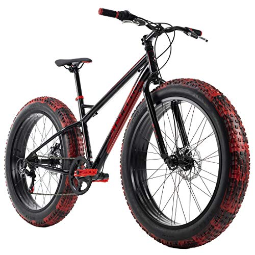 KS Cycling Fatbike 26'' SNW2458 schwarz-rot RH 43 cm