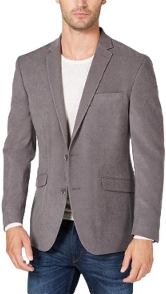 Kenneth Cole REACTION Men's Slim-Fit Ultrasuede 46L Sport Coat Gray